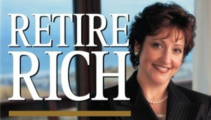 bambi holzer on the front cover of her book retire rich