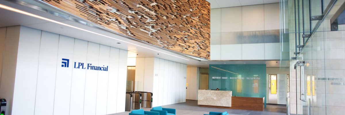 a picture of the lpl financial lobby